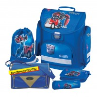 Transformers Optimus Prime Blue Herlitz MIDI Plus Schulranzen-Set 5tlg.