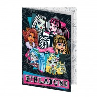 Monster High Einladungskarten 5 St.