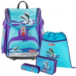 Happy Dolphins Step by Step TOUCH 2 Schulranzen-Set 4tlg.