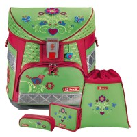 Country Flower Step by Step LIGHT Schulranzen-Set 4tlg.