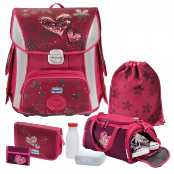 Lovely Hearts Baggymax Simy Schulranzen-Set 6tlg.