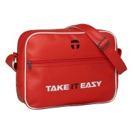 Take It Easy EAZY BAG Umhängetasche Collegetasche Rot