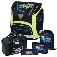 Spaceshuttle Herlitz SPORTI Plus Schulranzen-Set 5tlg.
