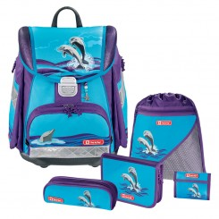 Happy Dolphins Step by Step TOUCH Schulranzen-Set 5tlg.