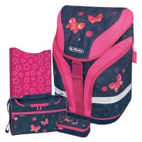 Butterfly Dreams Herlitz MOTION Plus Einschulrucksack-Set 4tlg.