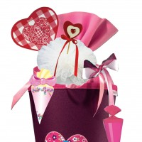 Tweedy Hearts Step by Step Schultütendekoration