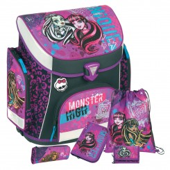 Monster High Campus Plus Schulranzen-Set 5tlg.