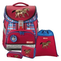 Horse Family Step by Step COMFORT Schulranzen-Set 4tlg.