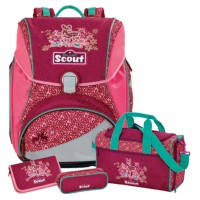 Fancy Forest Scout Alpha Schulranzen-Set 4tlg.