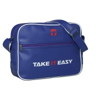 Take It Easy EAZY BAG Umhängetasche Collegetasche Blau