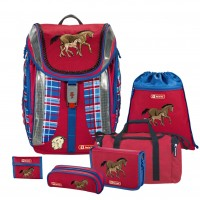 Horse Family Step by Step FLEXLINE Schulranzen-Set 6tlg.