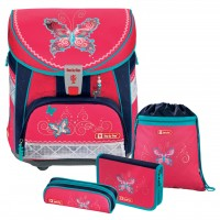 Butterfly Dancer Step by Step LIGHT Schulranzen-Set 4tlg.