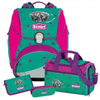 Summer Green Scout Alpha Schulranzen-Set 4tlg.