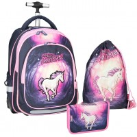 Magic Unicorn Rucksack-Trolley-Set 3 tlg.