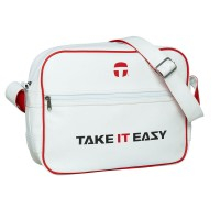 Take It Easy EAZY BAG Umhängetasche Collegetasche Weiss
