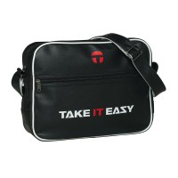 Take It Easy EAZY BAG Umhängetasche Collegetasche Schwarz